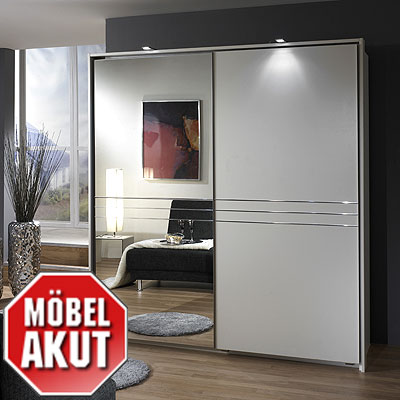 schwebet renschrank vita schrank wei mit spiegel ebay. Black Bedroom Furniture Sets. Home Design Ideas