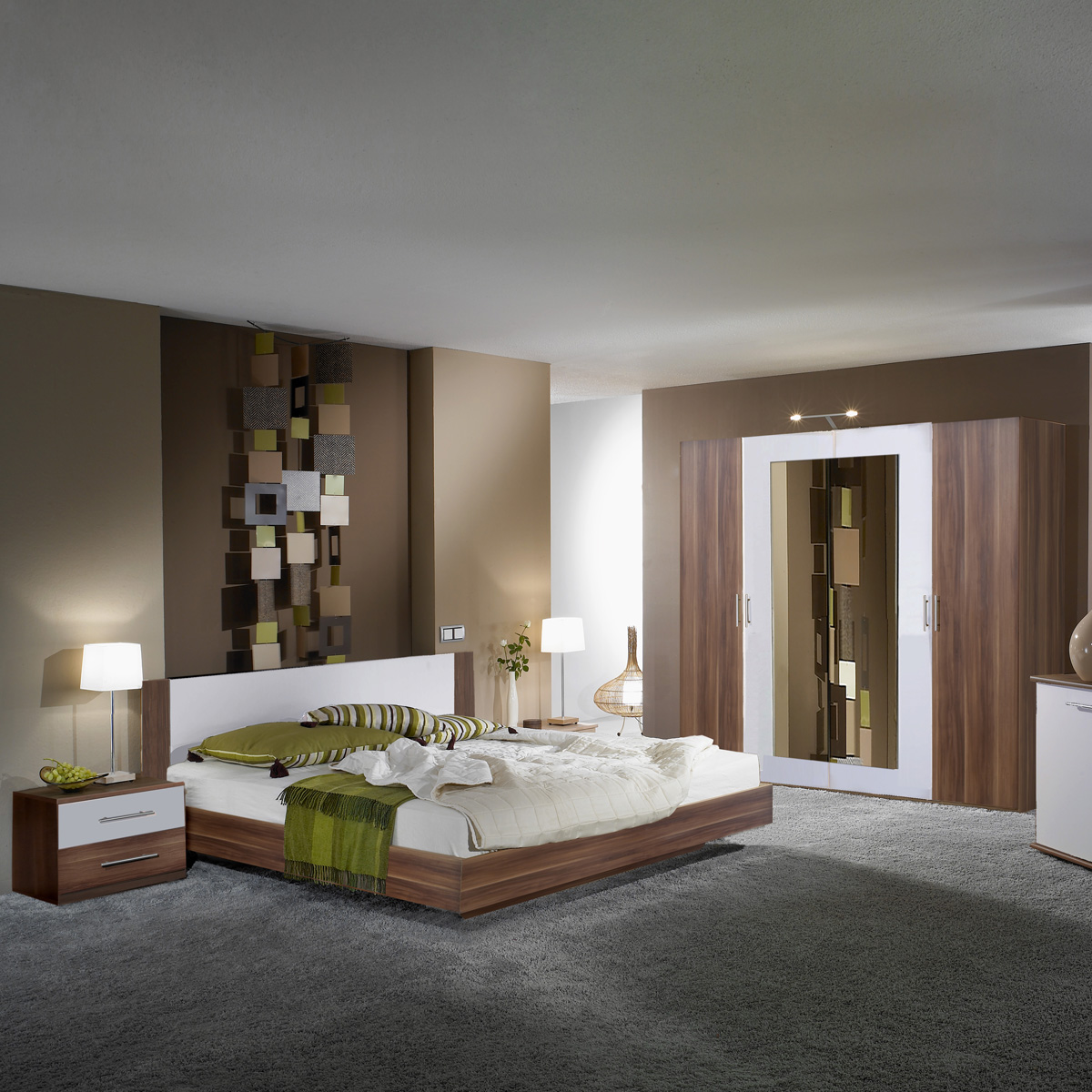 Schlafzimmer Braun Wei Ideen