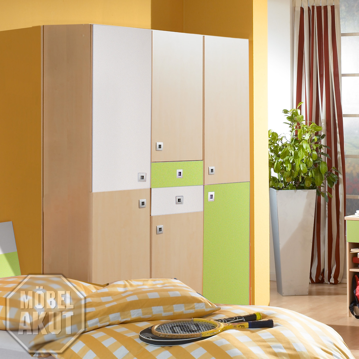 kleiderschrank sando schrank ahorn gr n wei b 135 ebay. Black Bedroom Furniture Sets. Home Design Ideas
