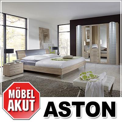 schlafzimmer set aston schlafzimmer in sonoma eiche s gerau alu mit spiegel ebay. Black Bedroom Furniture Sets. Home Design Ideas