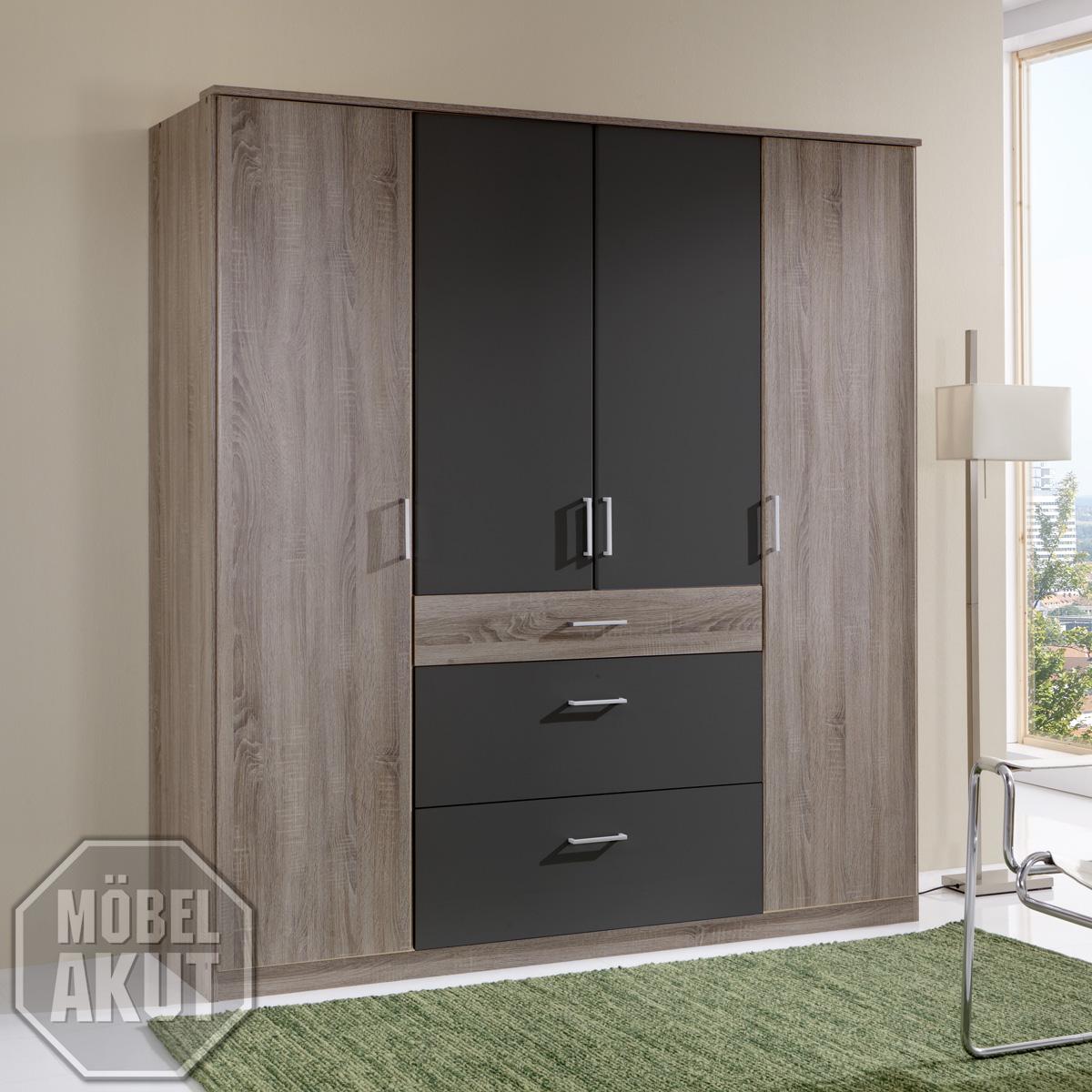 kleiderschrank masari schrank in montana eiche lava 180 cm ebay. Black Bedroom Furniture Sets. Home Design Ideas