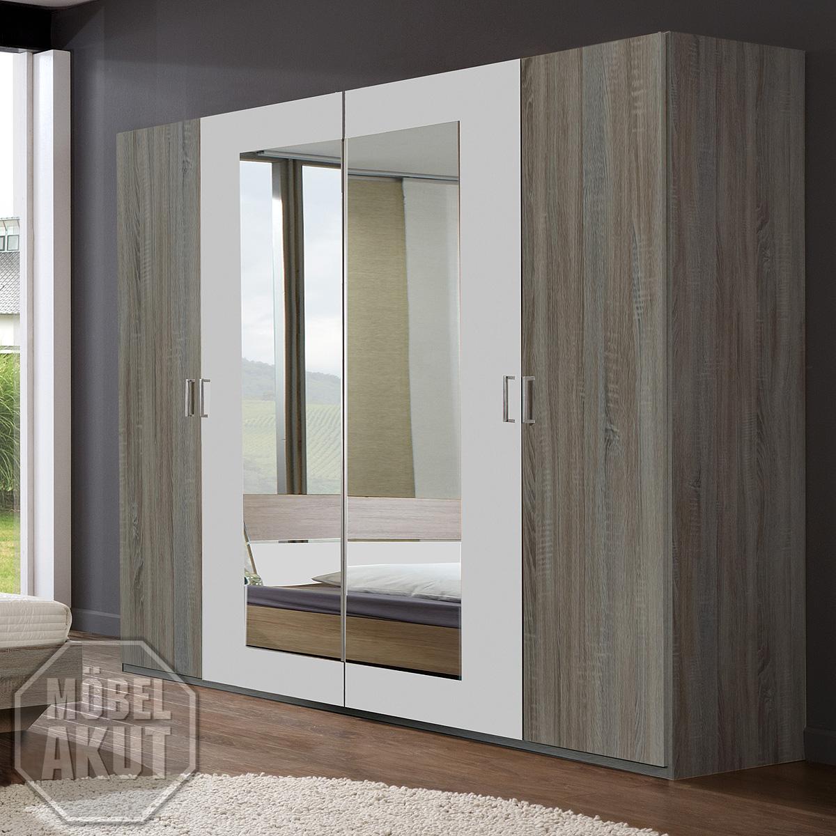 kleiderschrank franziska schrank in montana eiche s gerau und wei 225 cm ebay. Black Bedroom Furniture Sets. Home Design Ideas