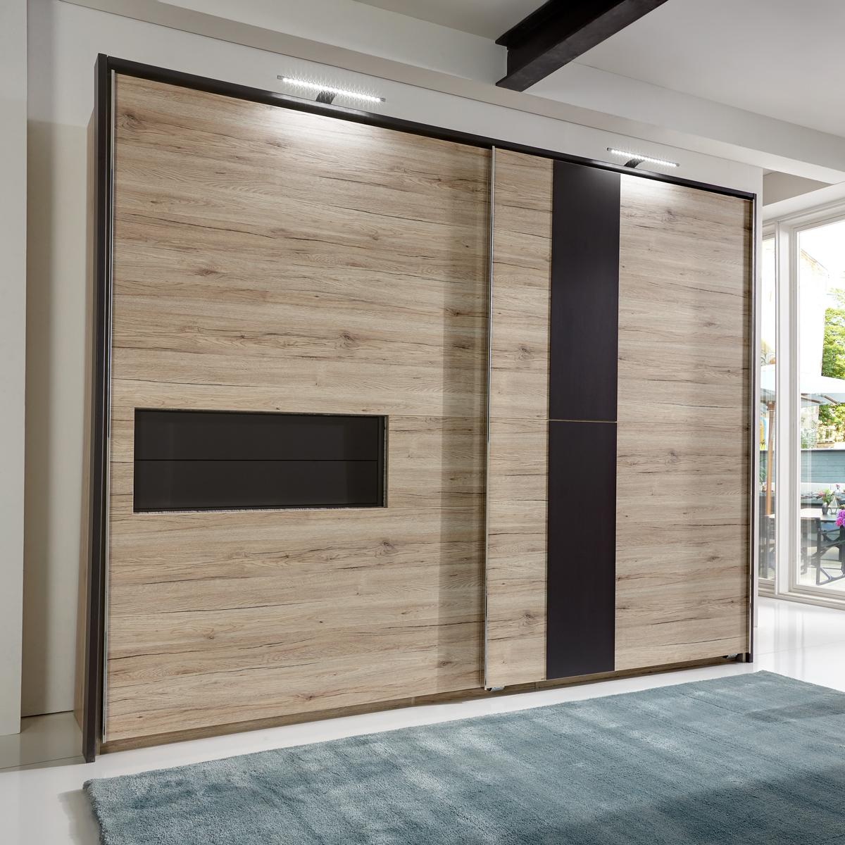 schwebet renschrank diva 300cm kleiderschrank mit passepartout san remo eiche ebay. Black Bedroom Furniture Sets. Home Design Ideas