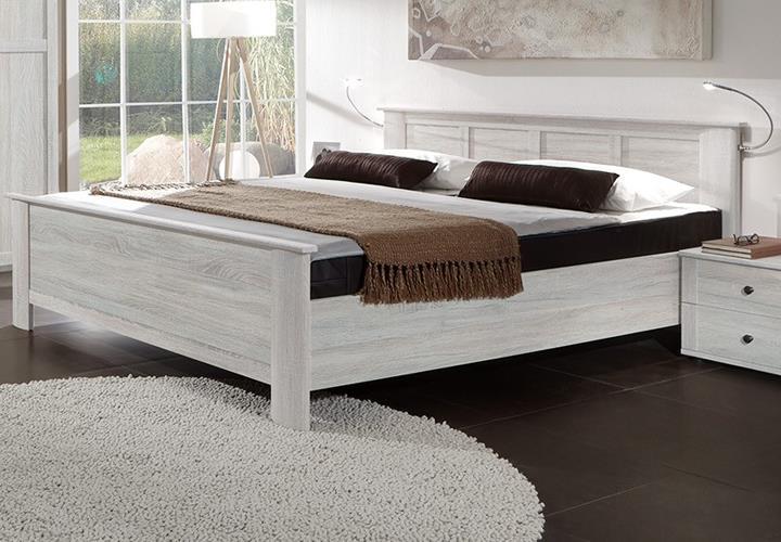 Kompaktbett chalet wei eiche schlafzimmer bett 180x200 cm for Schlafzimmer bett 180x200