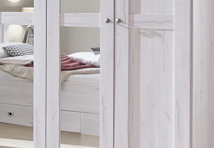 kleiderschrank chateau 5 t rig dreht renschrank in wei eiche mit spiegeln. Black Bedroom Furniture Sets. Home Design Ideas