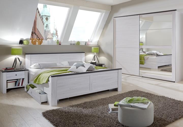 schlafzimmer kombi 3 chateau mit bett und nachtkommoden. Black Bedroom Furniture Sets. Home Design Ideas