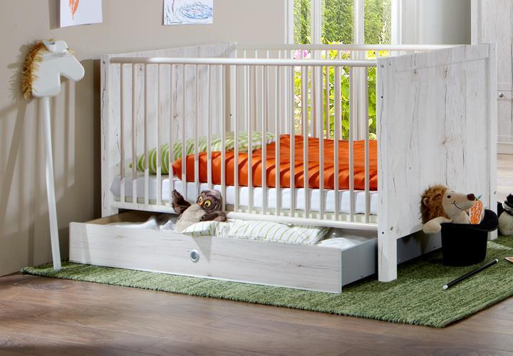 Babyzimmer filou 8 teilig in weißeiche babybett schrank ...