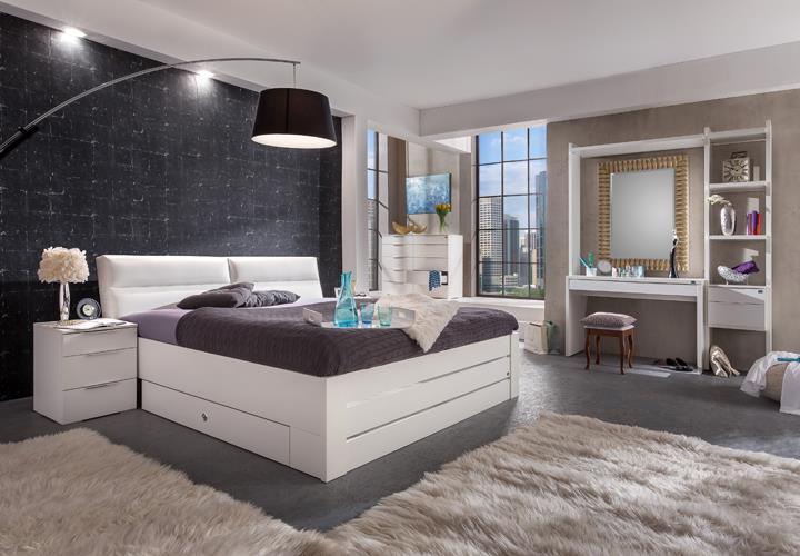 Schminktisch level up schlafzimmer in alpinwei mit 3 for Schlafzimmer mit schminktisch