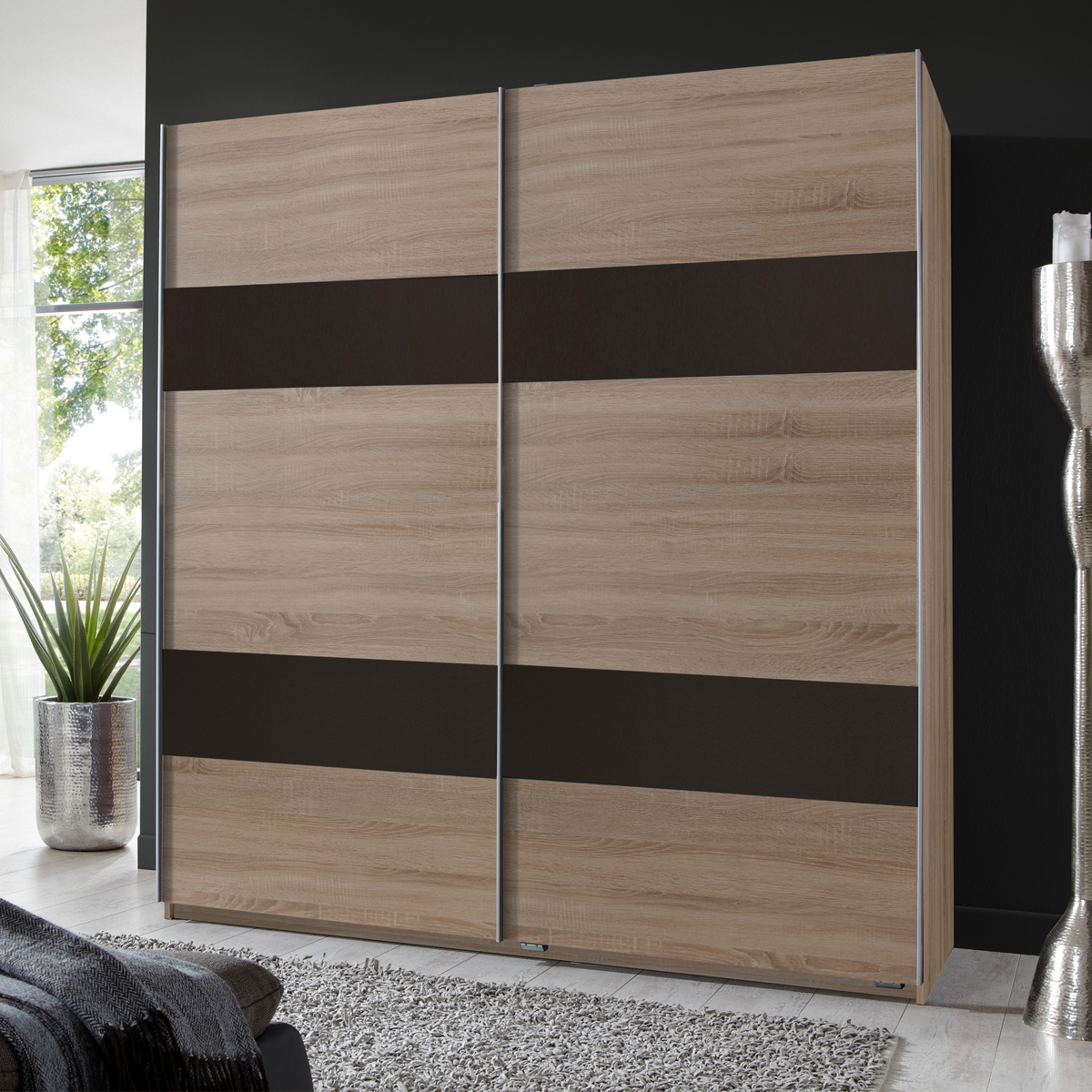 kleiderschrank chess schwebet renschrank eiche s gerau abs lavafarbig 180 cm ebay. Black Bedroom Furniture Sets. Home Design Ideas