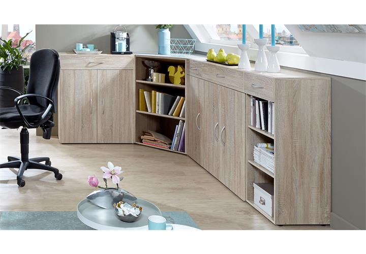 eckschrank multi room sideboard tv board regalsystem schranksystem eiche s gerau eur 489 95. Black Bedroom Furniture Sets. Home Design Ideas