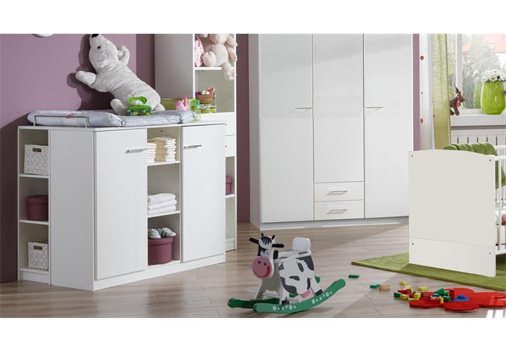 wickelkommode wei babyzimmer elena kommode mit aufsatz 2 t rig ebay. Black Bedroom Furniture Sets. Home Design Ideas