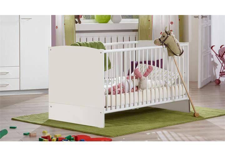 Babyzimmer weiß elena 3 teilig babybett schrank wickelkommode mit ...