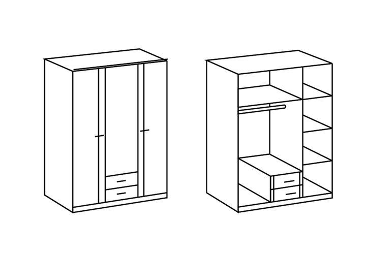 Babyzimmer wei elena oder elly mit strass babybett for Schrank zeichnen