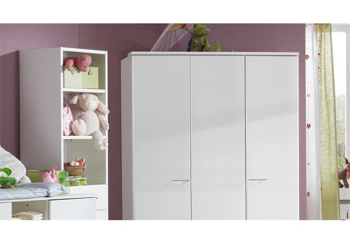 babyzimmer wei elena oder elly mit strass babybett schrank wickelkommode regal ebay. Black Bedroom Furniture Sets. Home Design Ideas