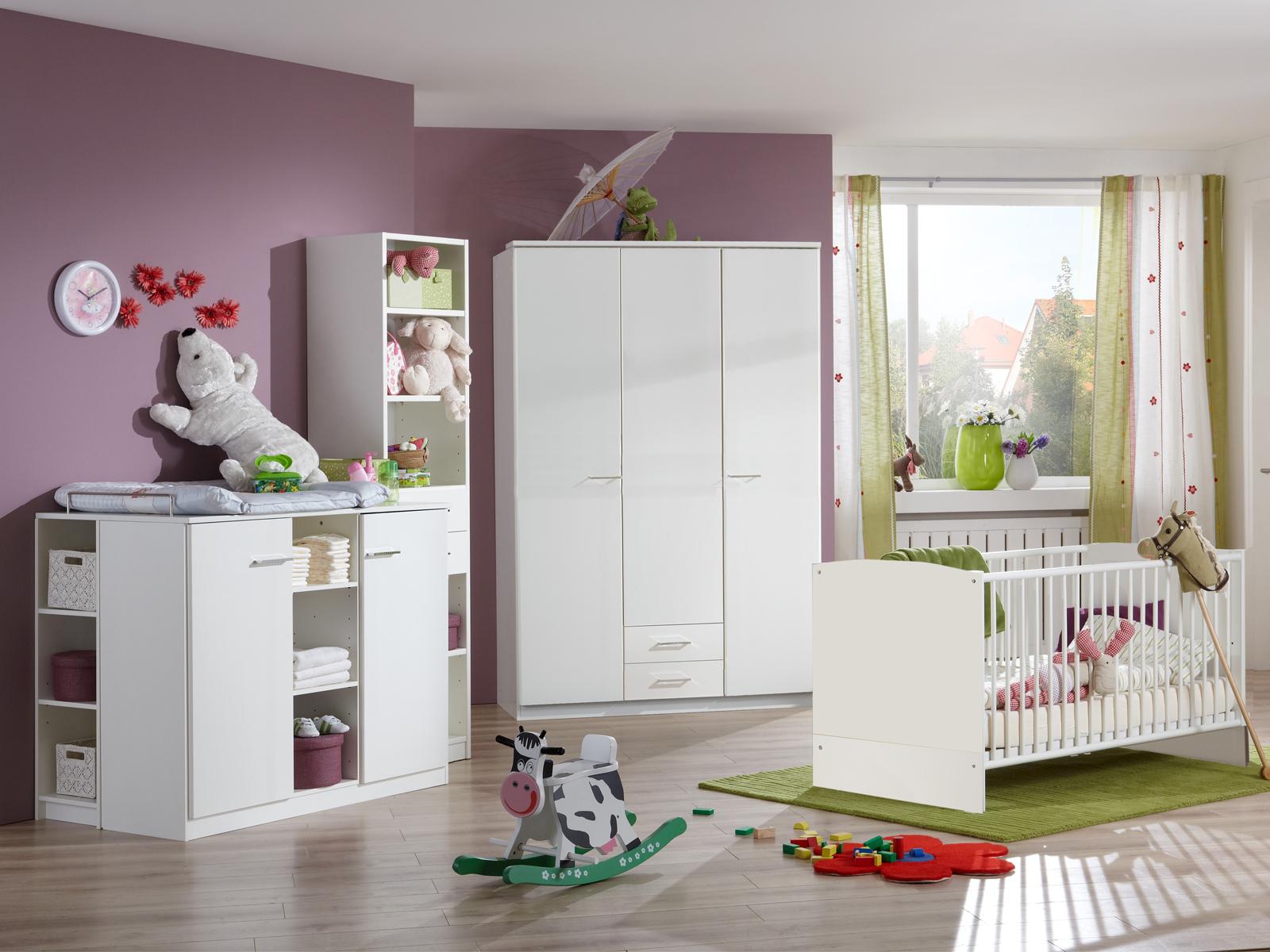 babyzimmer wei elena oder elly mit strass babybett. Black Bedroom Furniture Sets. Home Design Ideas