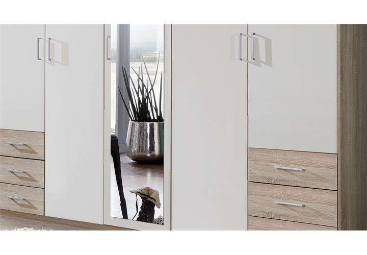 kleiderschrank f gen dreht renschrank schrank mit spiegel ebay. Black Bedroom Furniture Sets. Home Design Ideas
