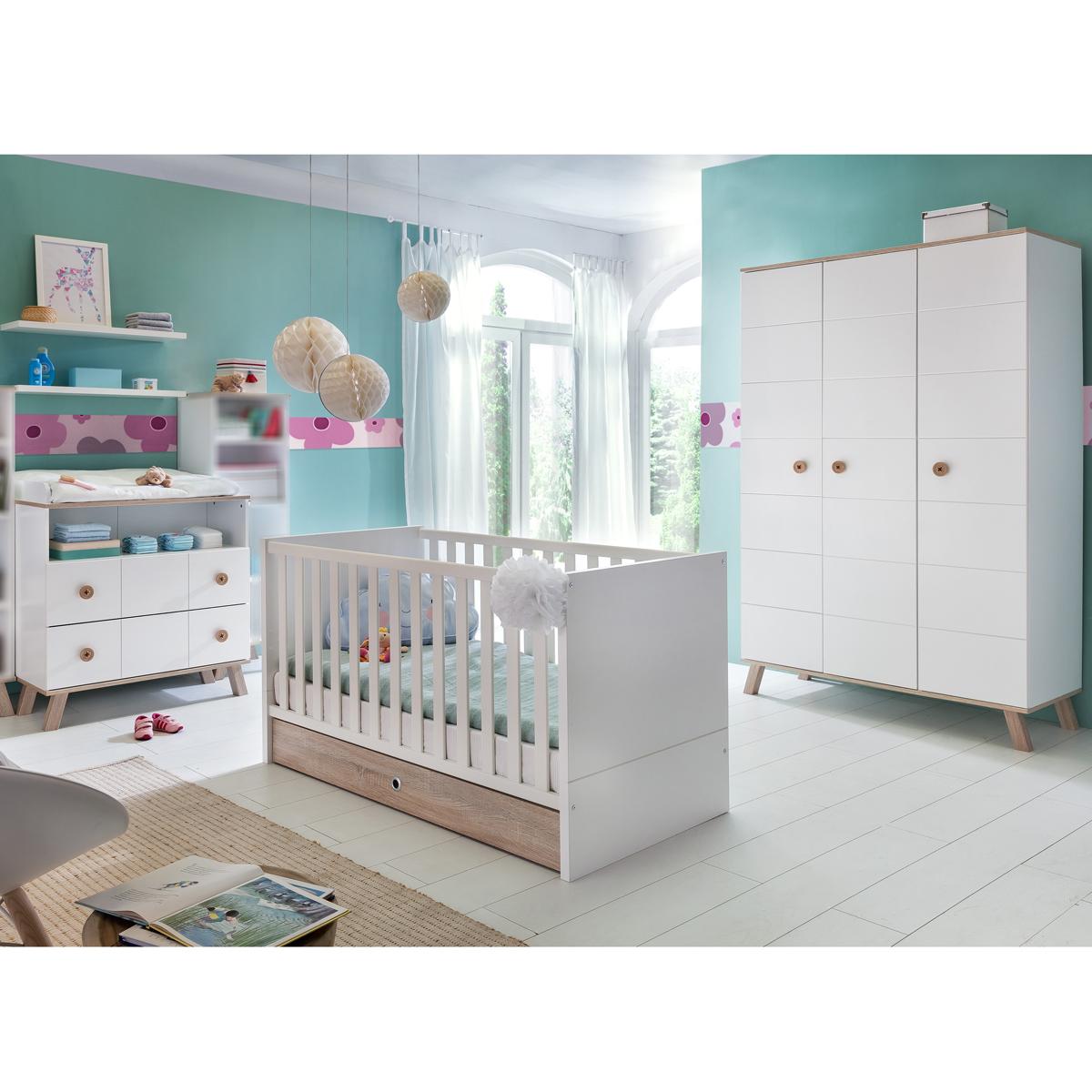 babyzimmer set billu in alpinwei und eiche s gerau. Black Bedroom Furniture Sets. Home Design Ideas