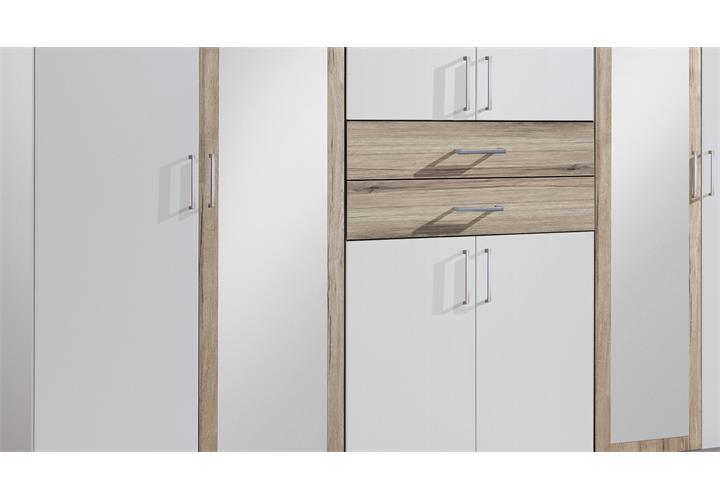 kleiderschrank diver in alpinwei eiche san remo 270 cm dreht renschrank schrank ebay. Black Bedroom Furniture Sets. Home Design Ideas