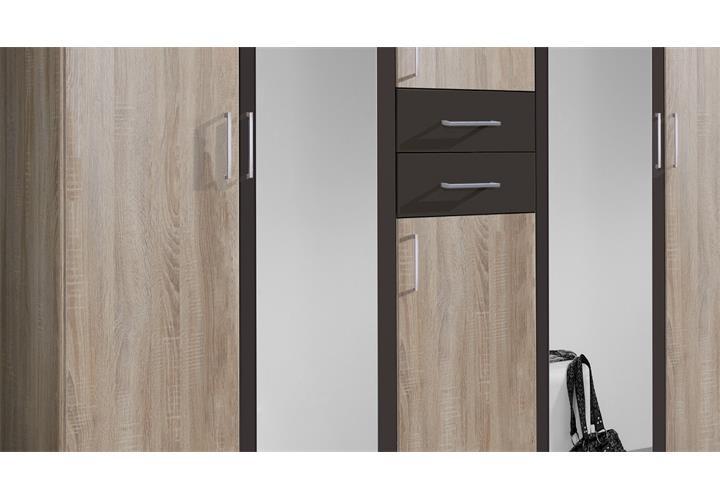 kleiderschrank diver schrank dreht renschrank mit schubk sten und spiegel ebay. Black Bedroom Furniture Sets. Home Design Ideas