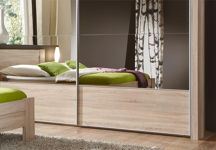 schlafzimmerset 2 donna schlafzimmer in eiche s gerau mit spiegel ebay. Black Bedroom Furniture Sets. Home Design Ideas