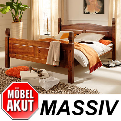bett mango in pinie kolonial massiv 140 x 200 cm neu. Black Bedroom Furniture Sets. Home Design Ideas