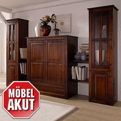 wohnwand mango anbauwand in pinie massiv kolonial neu. Black Bedroom Furniture Sets. Home Design Ideas