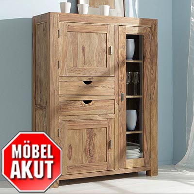 highboard khan kommode in sheesham massiv neu ebay. Black Bedroom Furniture Sets. Home Design Ideas