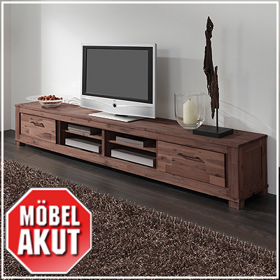 lowboard canaria tv board in akazie massiv smoke neu. Black Bedroom Furniture Sets. Home Design Ideas