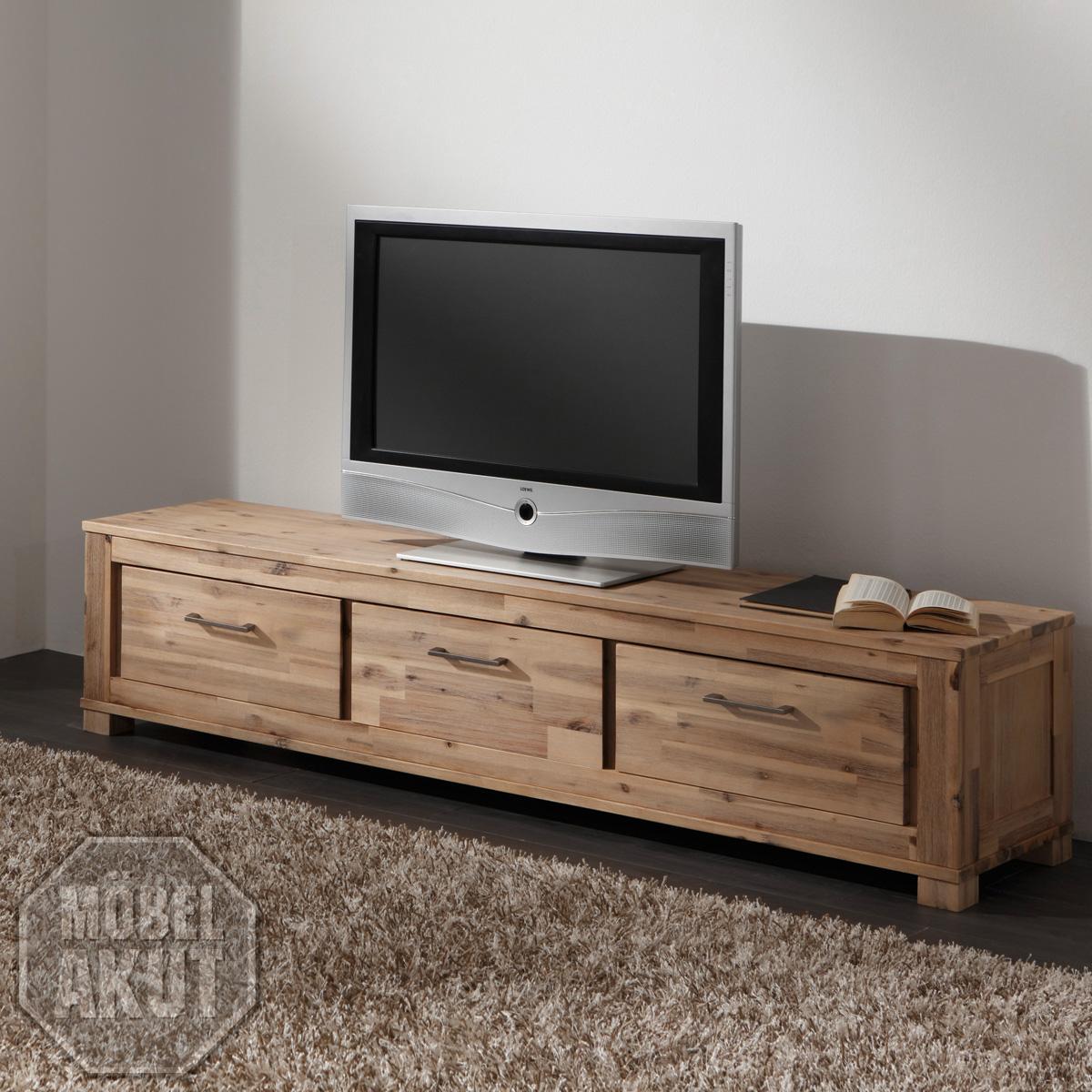 lowboard canaria tv board in akazie massiv sand neu. Black Bedroom Furniture Sets. Home Design Ideas