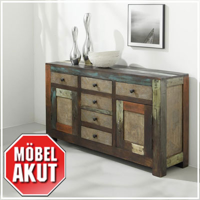 sideboard daro kommode in mango massiv vintage used. Black Bedroom Furniture Sets. Home Design Ideas