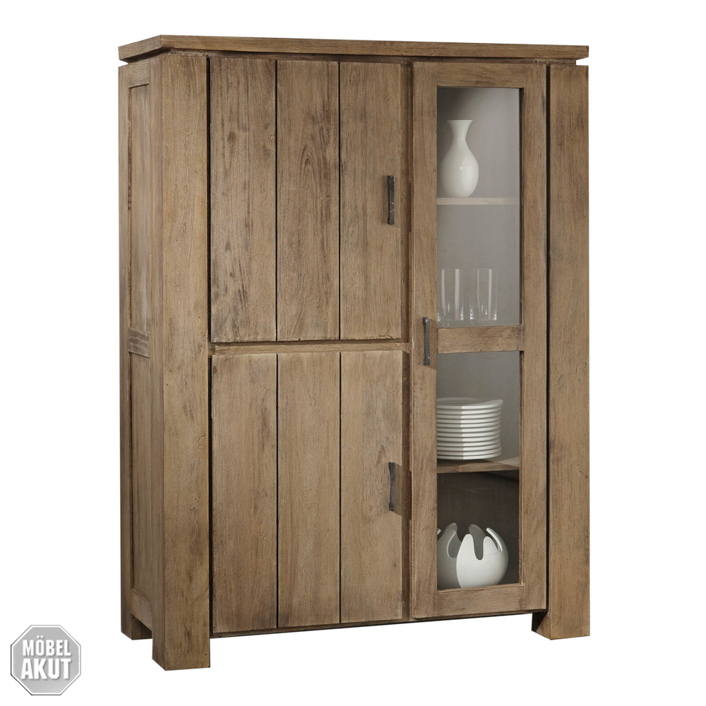 highboard venice kommode esszimmer akazie sand massiv von wolf m bel ebay. Black Bedroom Furniture Sets. Home Design Ideas