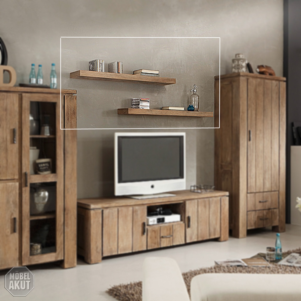 wandboard venice regal wohnzimmer akazie sand massiv von. Black Bedroom Furniture Sets. Home Design Ideas