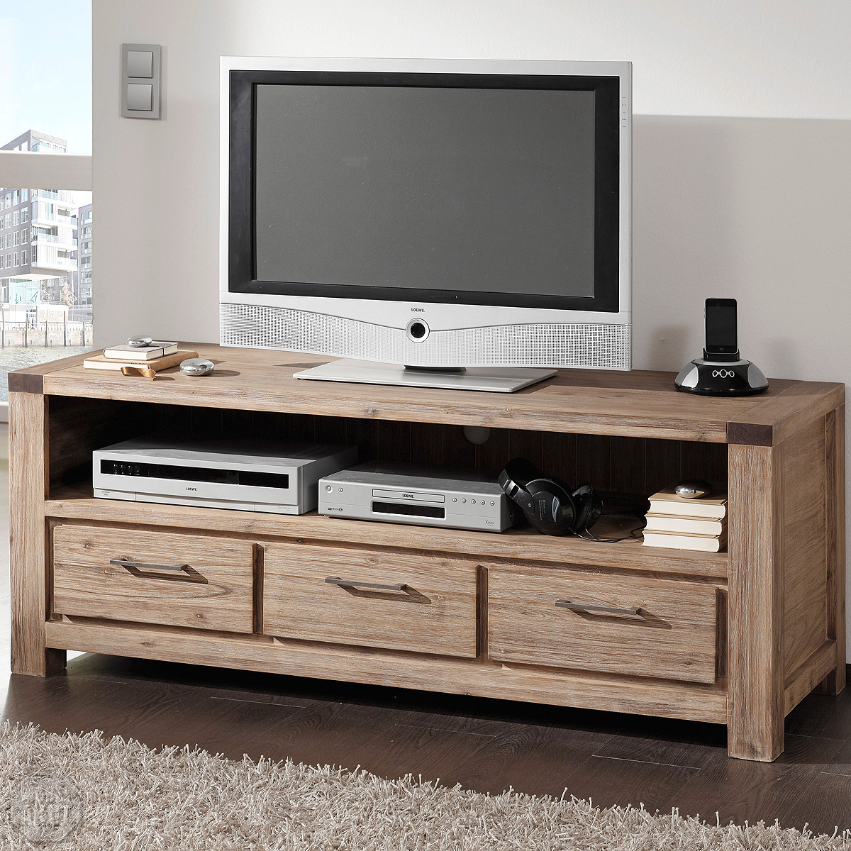 longboard 9617 coast tv board von wolf m bel in massivholz akazie ebay. Black Bedroom Furniture Sets. Home Design Ideas