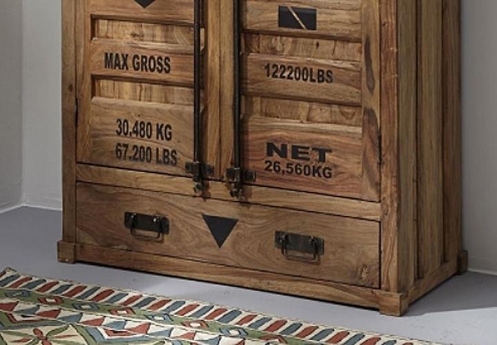 highboard 6912 container von wolf m bel in massivholz sheesham natur eur 639 95 picclick de. Black Bedroom Furniture Sets. Home Design Ideas