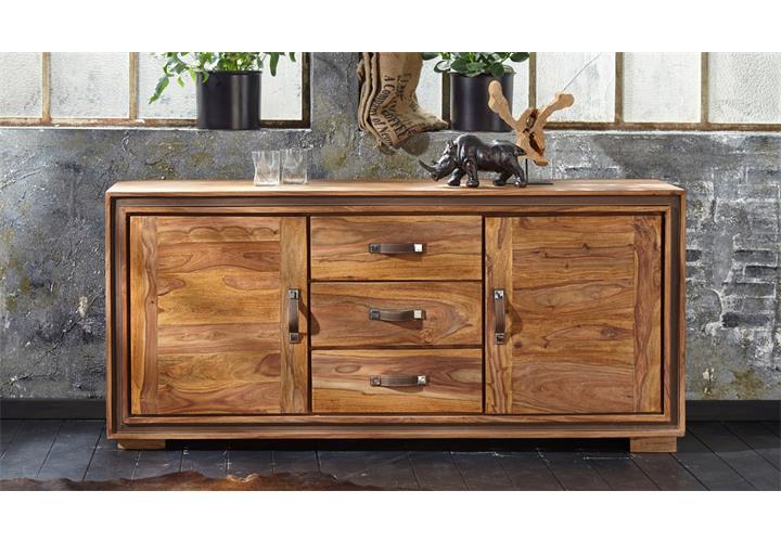 kommode shan 6300 shina aus sheesham massivholz sideboard von wolf m bel ebay. Black Bedroom Furniture Sets. Home Design Ideas