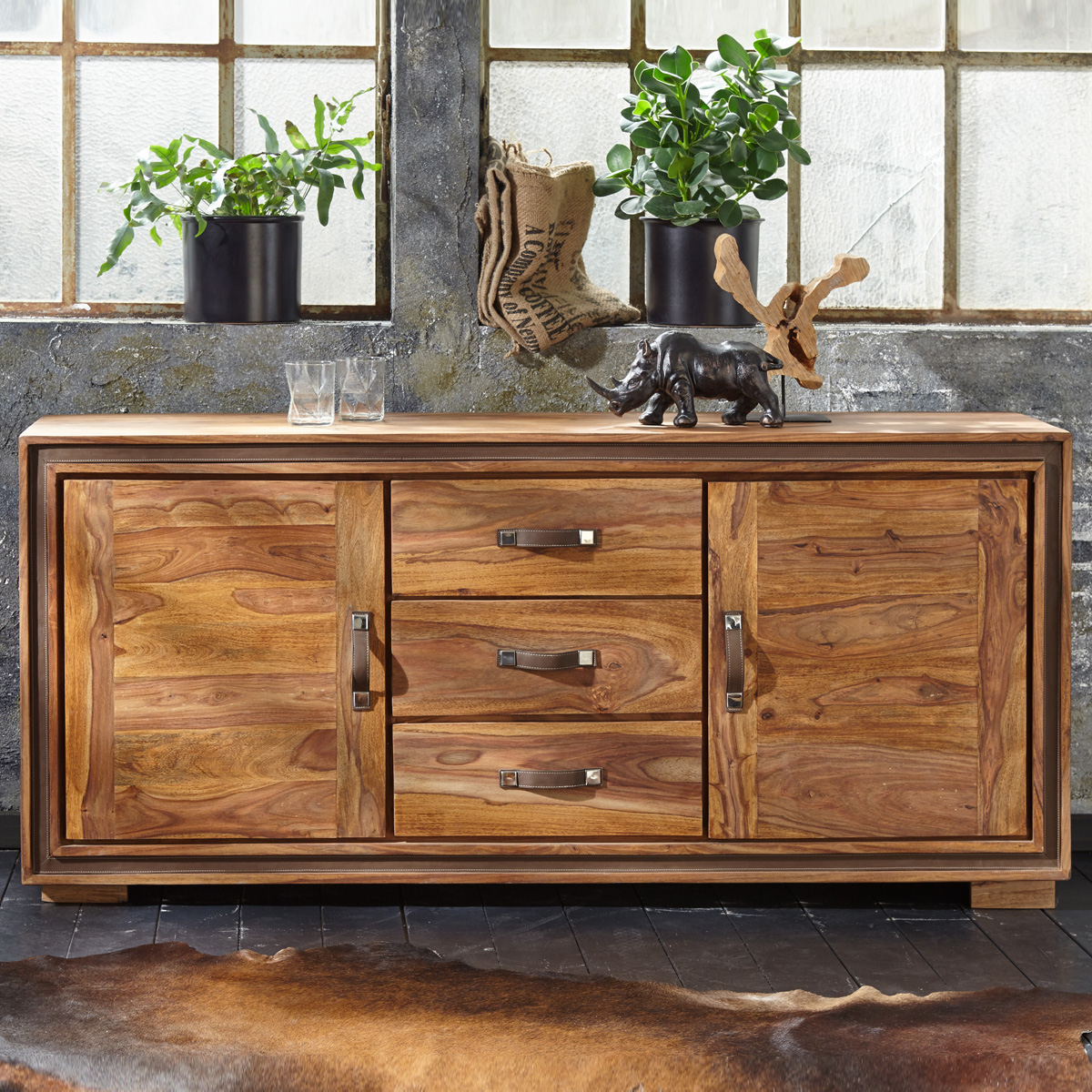 kommode shan 6300 shina aus sheesham massivholz sideboard von wolf m bel ebay. Black Bedroom Furniture Sets. Home Design Ideas