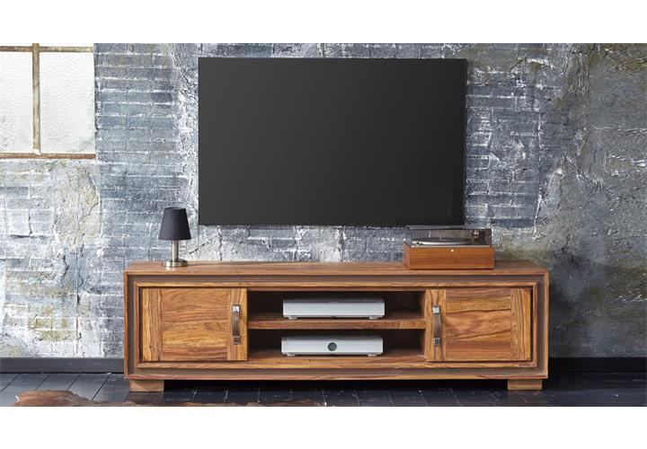 tv board shan 6302 shina aus sheesham massivholz lowboard von wolf m bel ebay. Black Bedroom Furniture Sets. Home Design Ideas