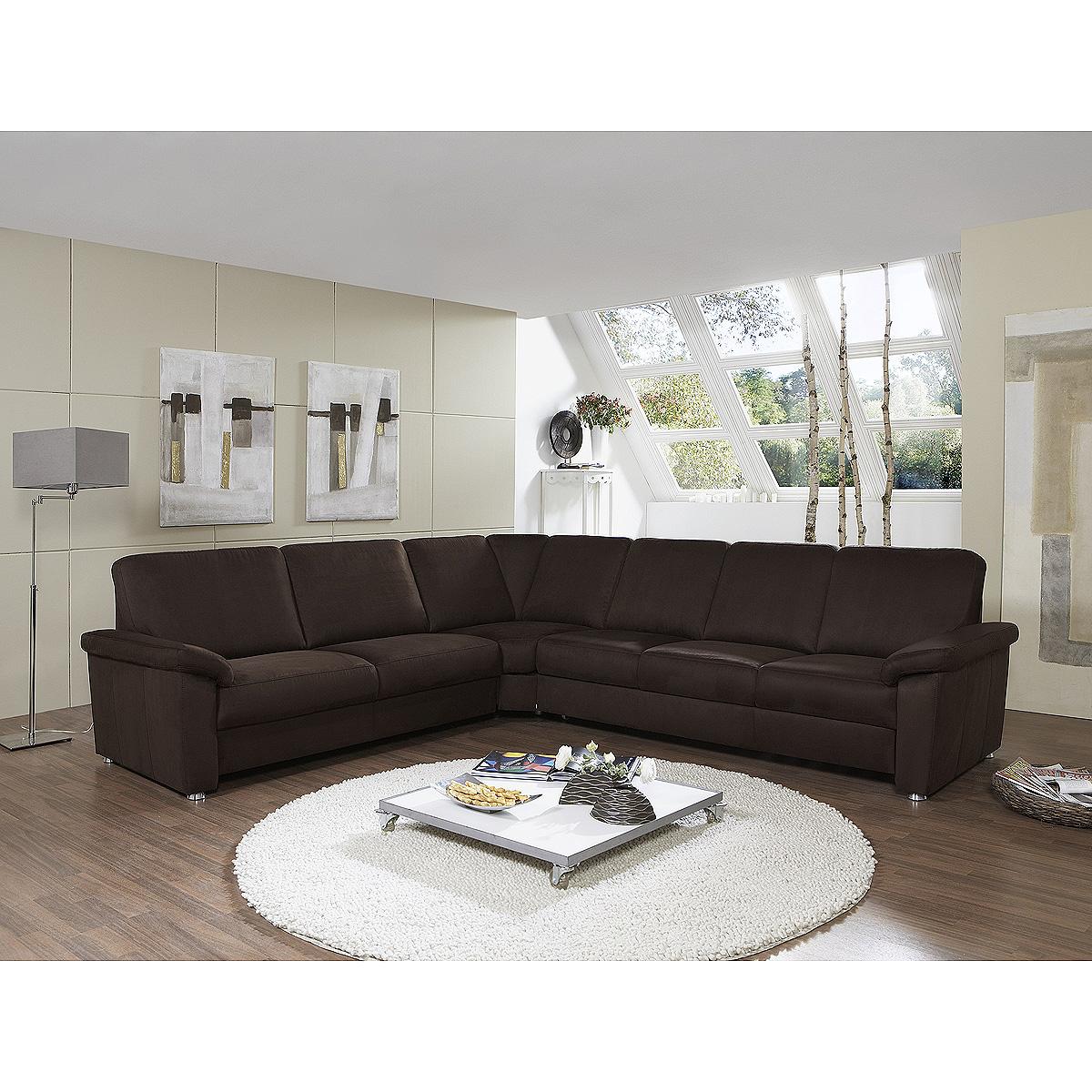 ecksofa triest sofa wohnlandschaft polsterm bel in nougat. Black Bedroom Furniture Sets. Home Design Ideas