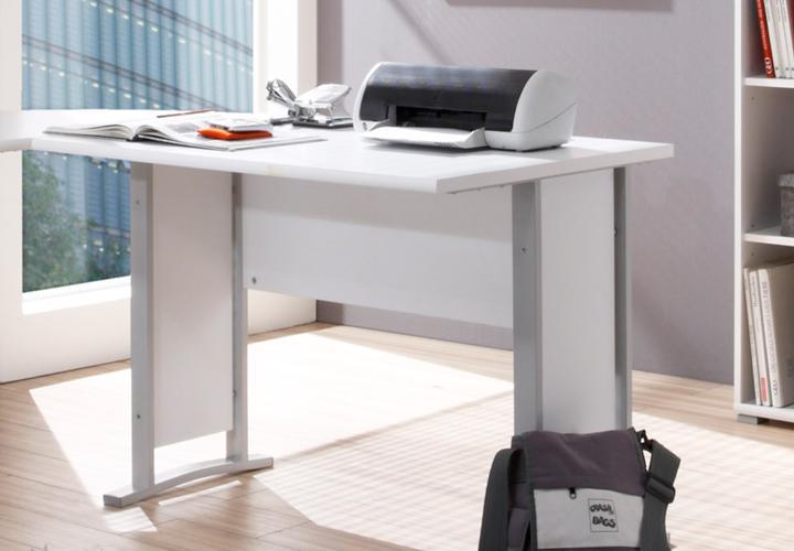 Winkelschreibtisch office line biz kombination in wei for Schreibtisch 1m