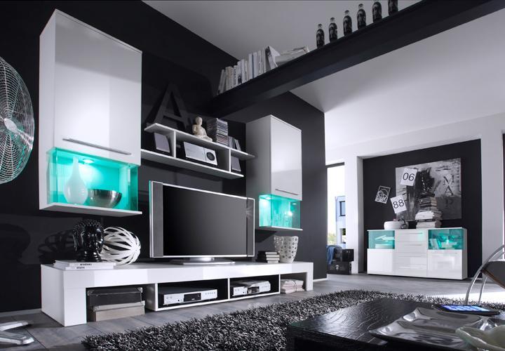 Wohnzimmer schwarz weiss gestalten