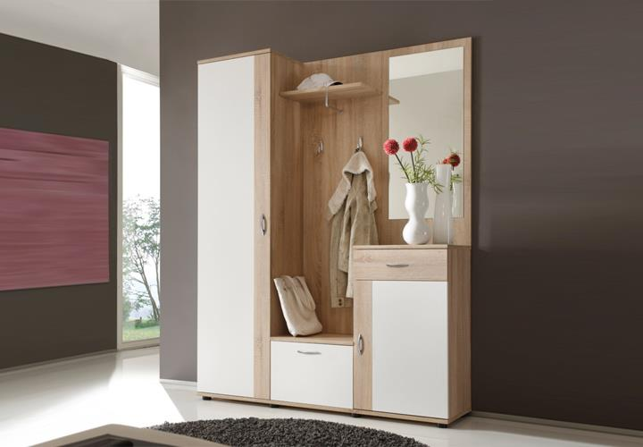 garderobe patent dielenm bel flurm bel spiegel in sonoma. Black Bedroom Furniture Sets. Home Design Ideas