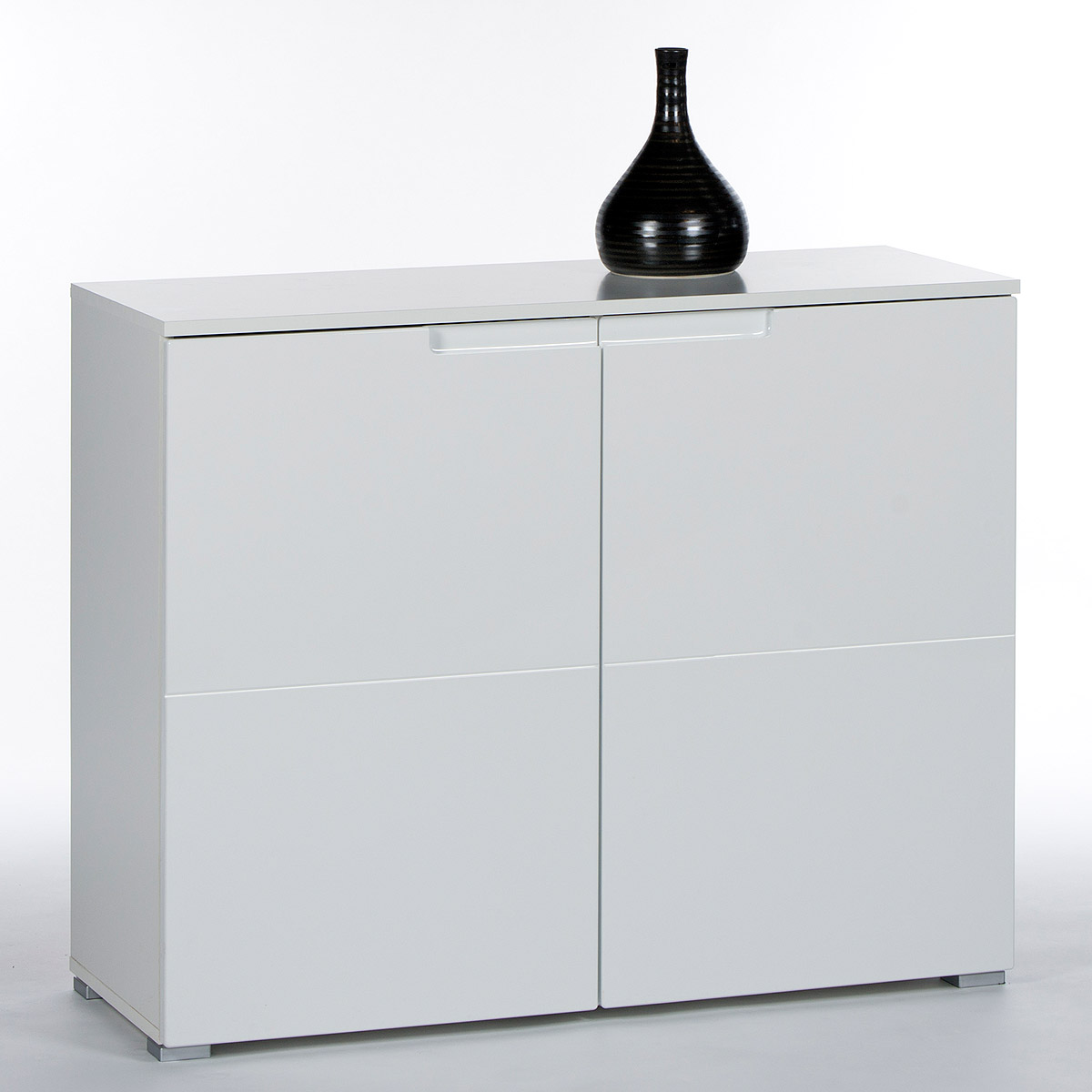 kommode spice 6 anrichte sideboard fronten in hochglanz weiss 100 cm. Black Bedroom Furniture Sets. Home Design Ideas