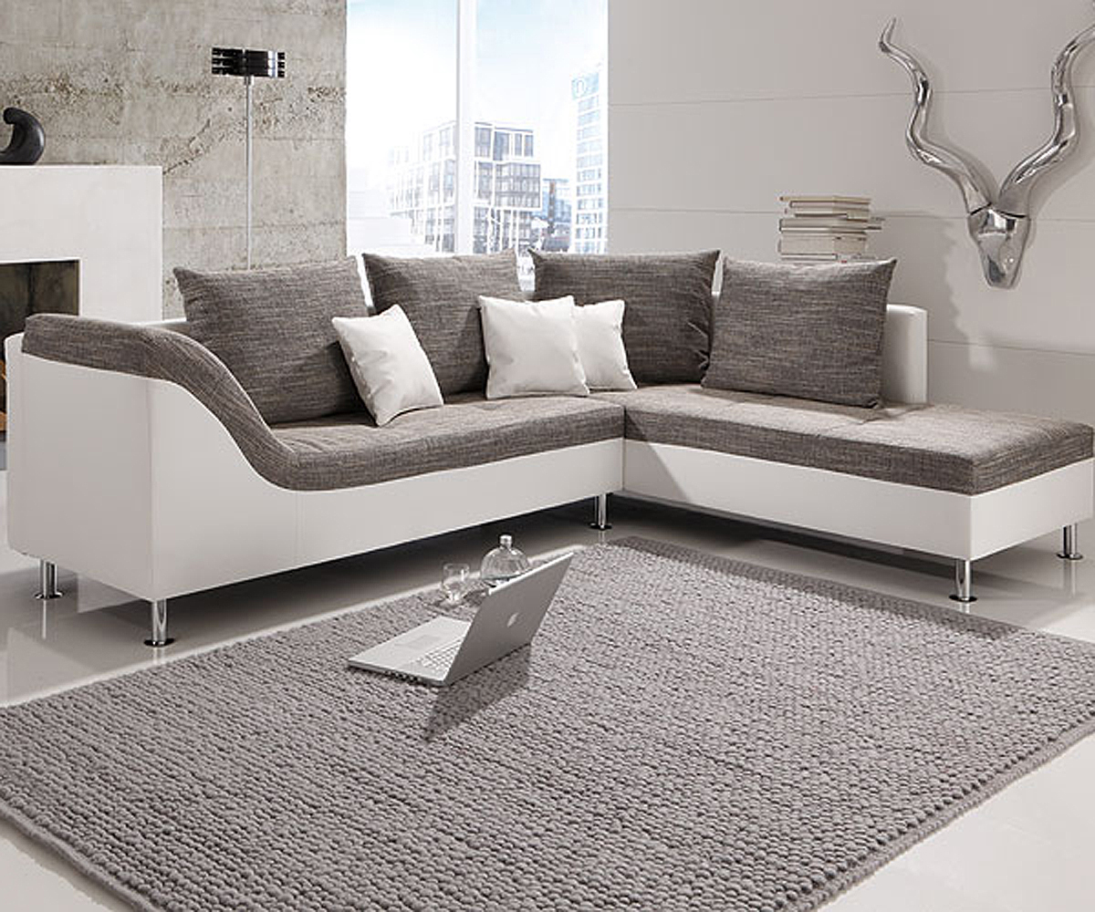 sofa weiss grau pictures to pin on pinterest. Black Bedroom Furniture Sets. Home Design Ideas