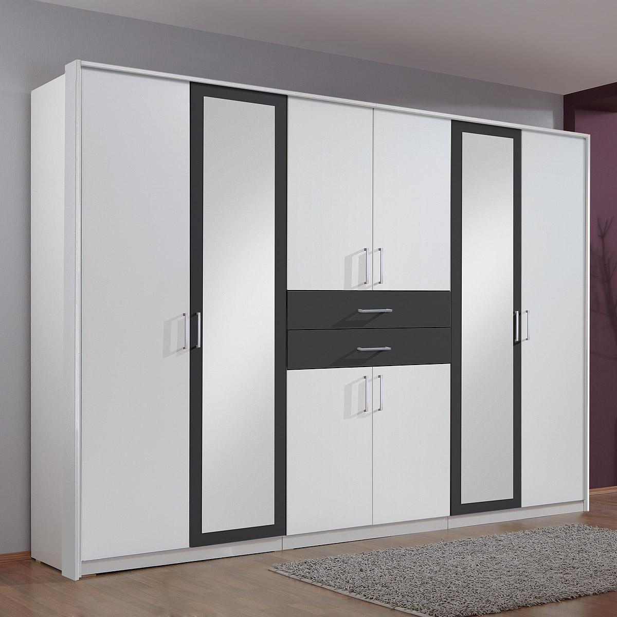 kleiderschrank 270cm diver schrank schlafzimmer wei. Black Bedroom Furniture Sets. Home Design Ideas