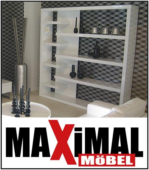 b cherregal in wei hochglanz design regal neu ebay. Black Bedroom Furniture Sets. Home Design Ideas