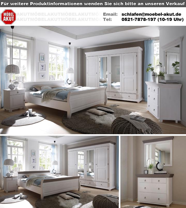 Schlafzimmer Set Oslo In Kiefer Massiv Weiß Und Lava Schlafzimmer Oslo