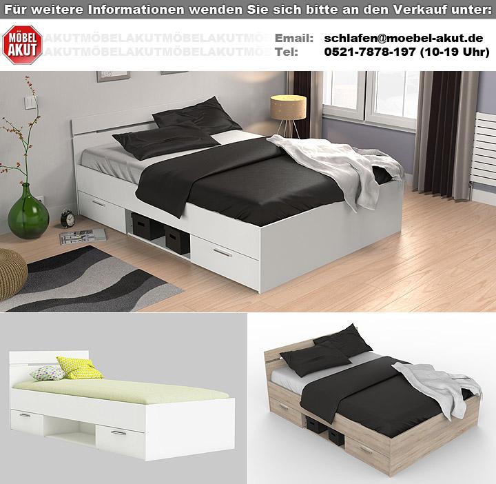 bett michigan jugendbett g stebett sonoma eiche 140x200. Black Bedroom Furniture Sets. Home Design Ideas