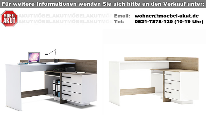 eckschreibtisch thales bestseller shop f r m bel und einrichtungen. Black Bedroom Furniture Sets. Home Design Ideas
