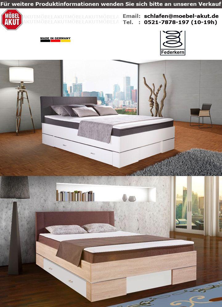 boxbett globe bett in wei glanz und anthrazit mit topper 140x200 cm. Black Bedroom Furniture Sets. Home Design Ideas
