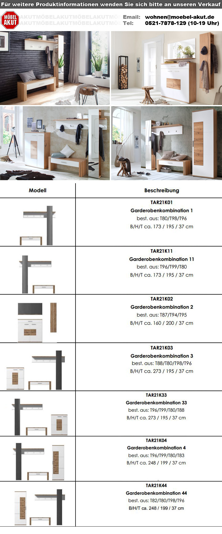kommode talo wei matt und crackeiche furnier 90 cm breit garderobe schrank ebay. Black Bedroom Furniture Sets. Home Design Ideas